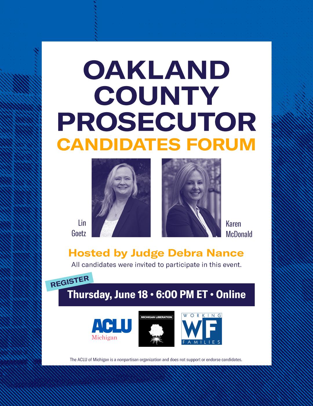 Oakland County Prosecutor Candidates Forum