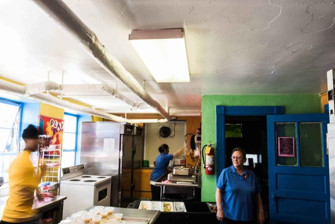 Jeanne Nawrocki, Kitchen Manager at Holbrock Elementary, has worked for Hamtramck Public Schools for 20 years