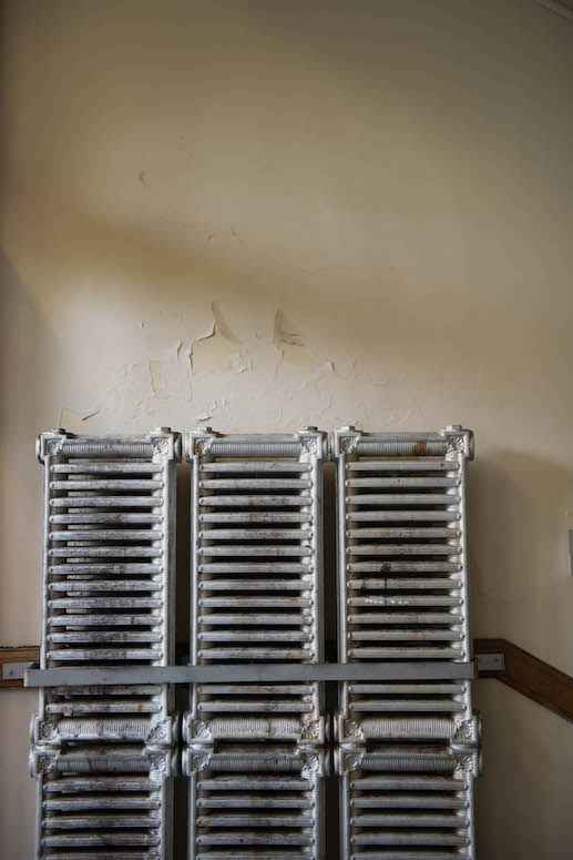 Steam radiators and peeling plaster are a common sight at Muskegon City School District.