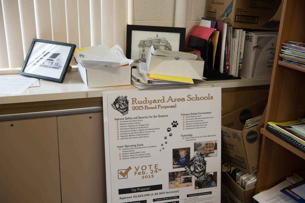 """Rudyard Area Schools twice attempted to pass a bond in the last two years. Both attempts failed, the first by 15 votes. """"We have to pass the bond,"""" stresses superintendent Mark Pavloski."""