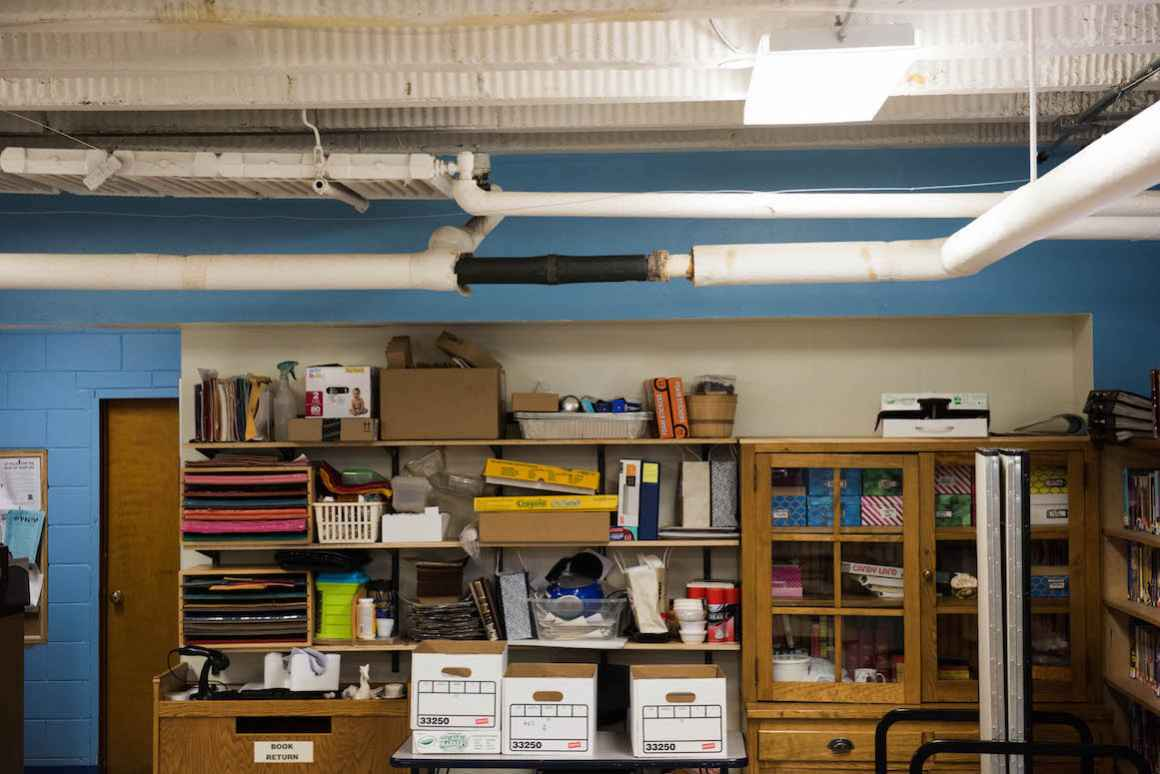 During the 2013-2014, the district endured a flood. All of the school's book cases were rebuilt, this time with blocks elevating them six inches above the floor.