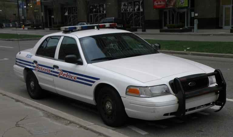 Detroit Police patrol car