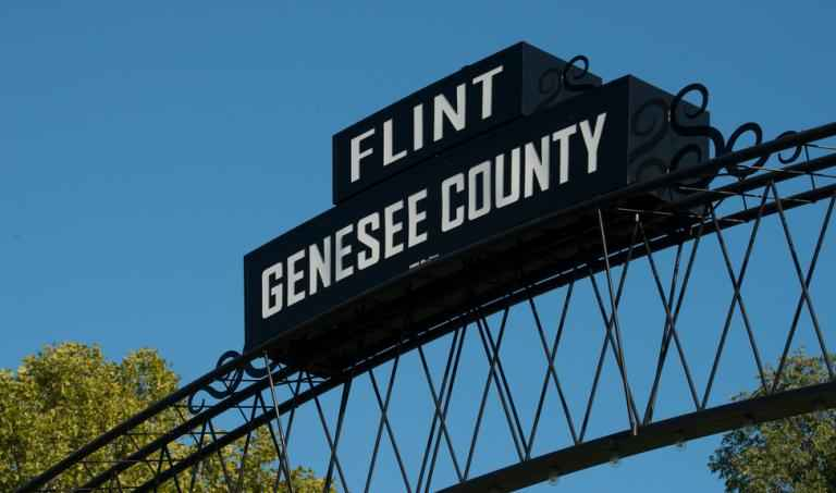 Flint Genesee County sign