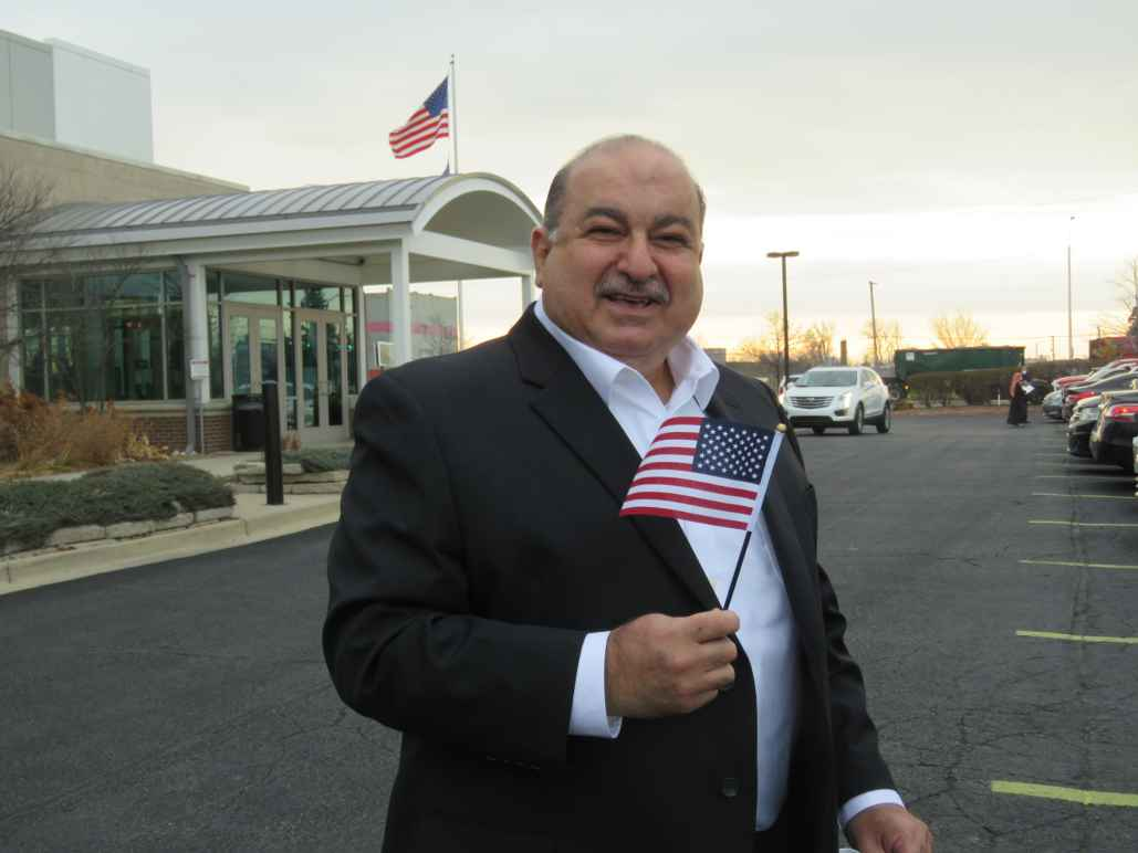 Sam Hamama after becoming a US citizen