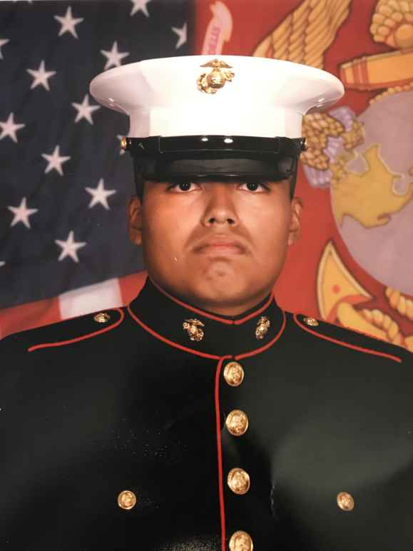 U.S. Marine Veteran Jilmar Ramos-Gomez in uniform