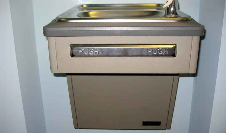 push bar drinking fountain