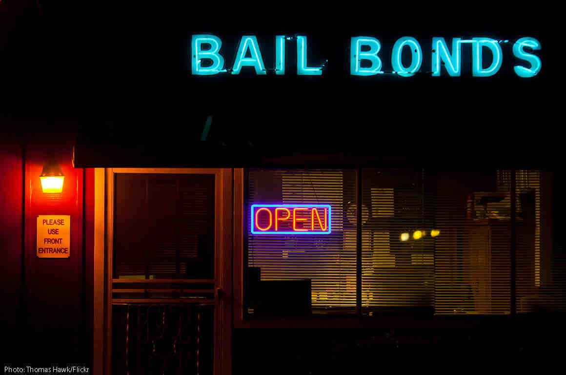 Image of bail bonds storefront