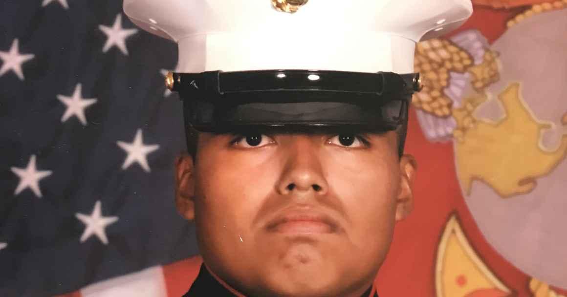 U.S. Marine Veteran Jilmar Ramos-Gomez in uniform